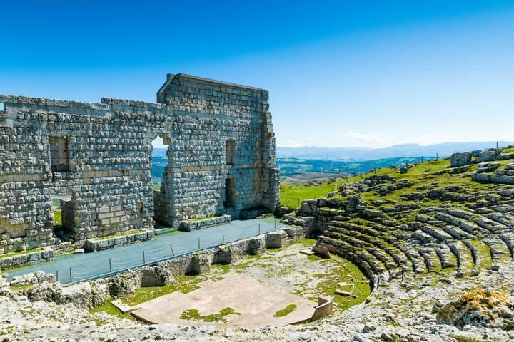 Römische Ruinen Acinipo bei Ronda   andalusien 360°